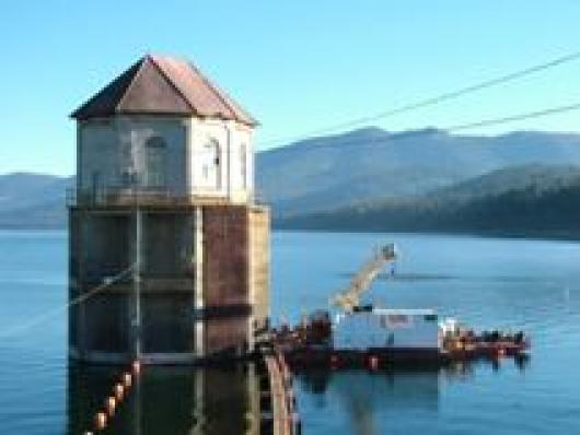 Canyon Dam Outlet Tower Stem Replacement Global Diving