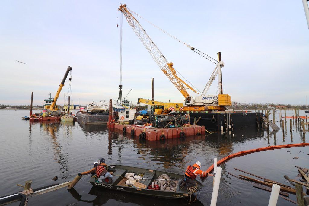 hurricane michael - barge team