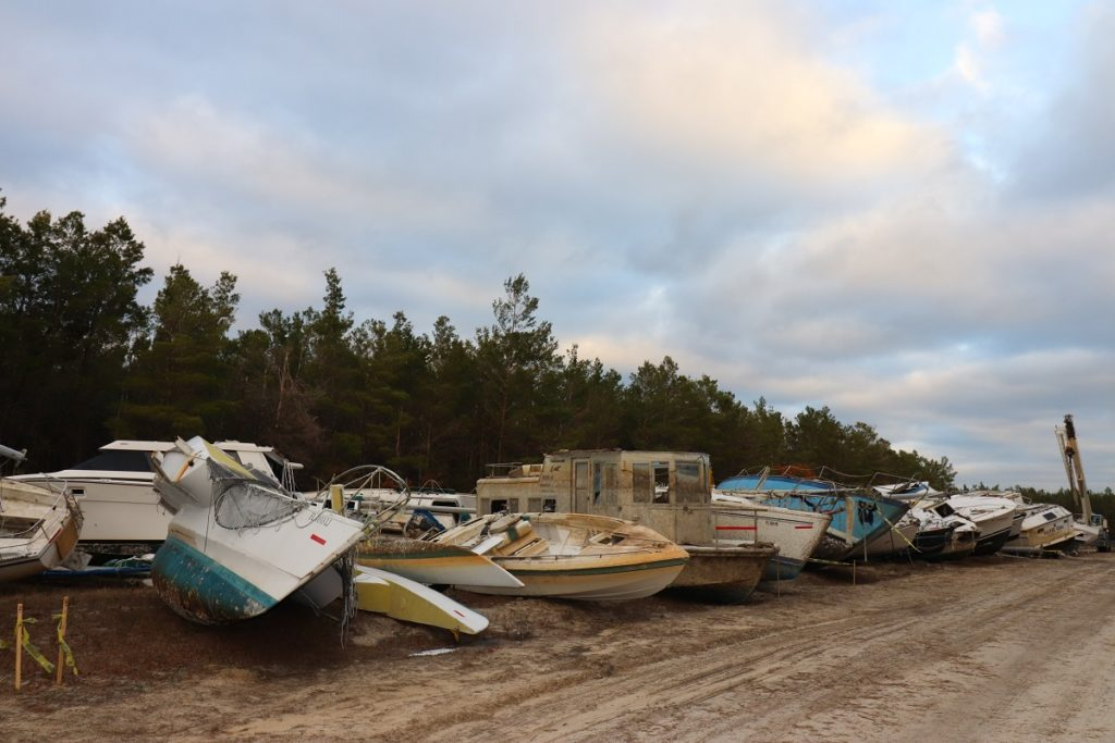 hurricane michael - boatyard