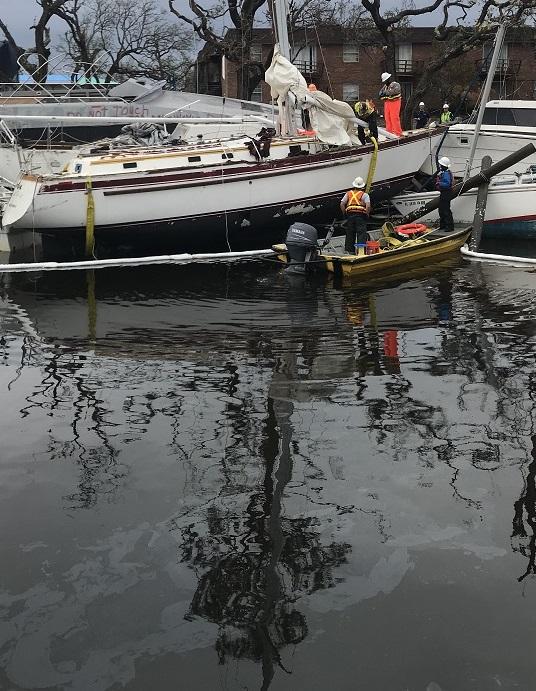 hurricane michael - sailboat