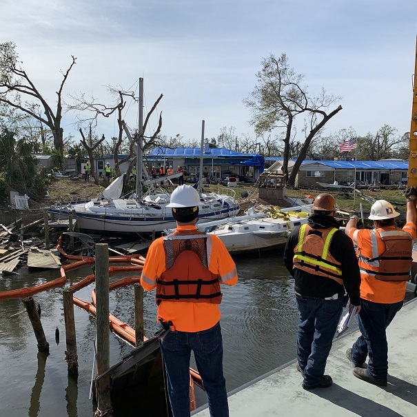 Global works with the USCG and other officials after Hurricane Michael struck Florida in late 2018.
