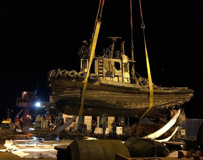 samantha j rov salvage on barge