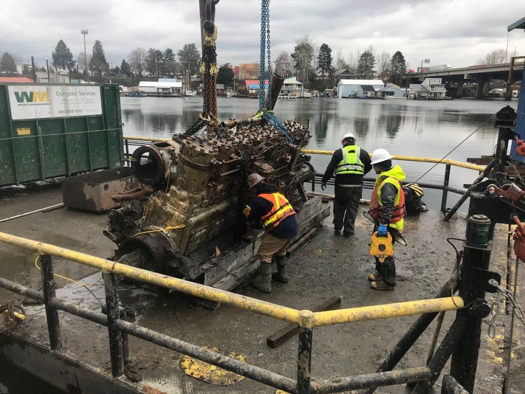 pier west vessel removal