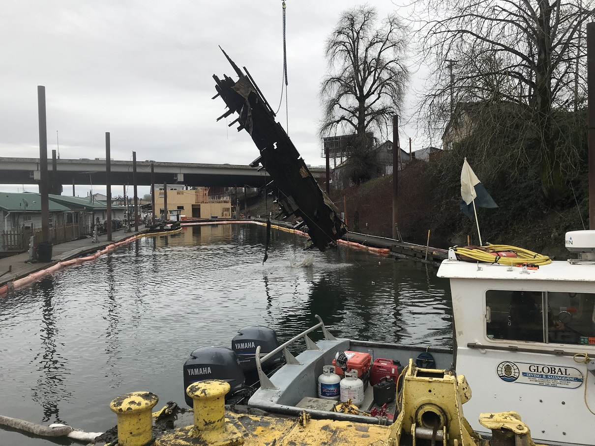 pier west vessel removal
