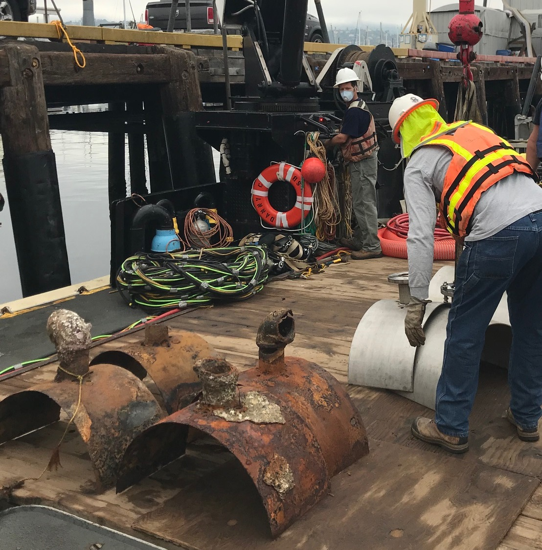 outfall diffuser repairs
