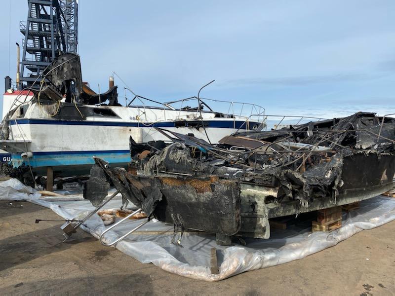 Vashon vessel fire