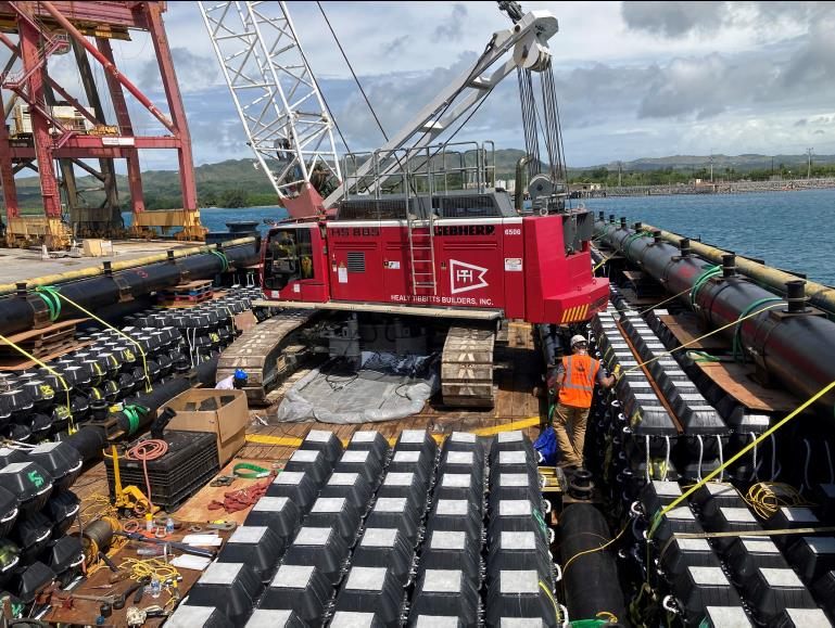 Guam outfall diffusers